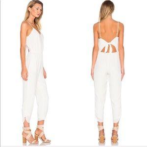 Lovers + Friends Farrah Jumpsuit Ivory White X712